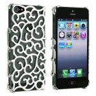 Hollowed Flowers Style PET Back Case for IPHONE 5 - Silver