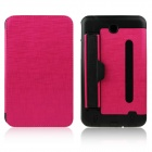 ENKAY ENK-7041 PU Leather Case w/ Hand Strap Holder for Samsung P3200 / T210 / T211 - Deep Pink