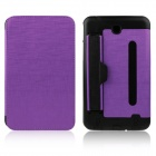 ENKAY ENK-7041 PU Leather Case w/ Hand Strap Holder for Samsung P3200 / T210 / T211 - Purple