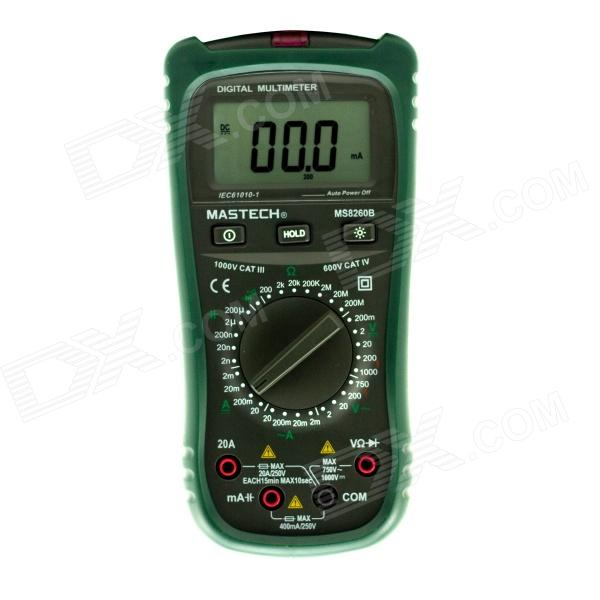 MASTECH MS8260B 2000 Counts Non-contact Digital Multimeter AC/DC Voltage Tester - Black + Green