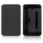 ENKAY ENK-7041 PU Leather Case w/ Hand Strap Holder for Samsung P3200 / T210 / T211 - Black