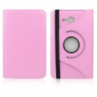 ENKAY 360 Degree Rotation Protective Case Cover Stand for Samsung Galaxy Tab 3 Lite T110 - Pink