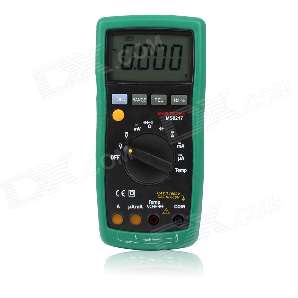 MASTECH MS8217 4000 Counts Digital Multimeter - Black + Army Green