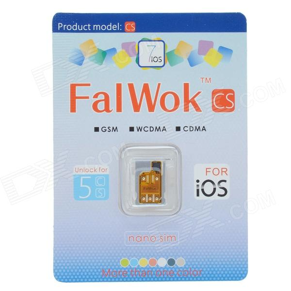FalWok CS universel déverrouiller la carte SIM w / ensemble d'adaptateurs de carte SIM pour l'IPHONE 5 / 5 s / C 5 - Golden