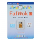 FalWok CS Universal Unlock SIM Card w/ SIM Card Adapter Set for IPHONE 5 / 5S / 5C - Golden