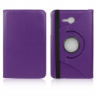 ENKAY 360 Degree Rotation Protective Case Stand for Samsung Galaxy Tab 3 Lite T110 - Deep Purple