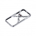 GeekRover iPCS0802-C 3D Skull Head Style Bumper Frame Case for IPHONE 5 / 5S - Silver