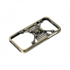 GeekRover iPSC0801-B 3D Skull Style Bumper Frame Case for IPHONE 5 / 5S - Bronze