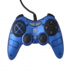 DILONG PU311 Dual-shock USB Vibration Gamepad Game Controller for PC Games - Blue + Black (170cm)