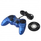 DILONG PU311 Dual-shock USB vibrasjon Gamepad spillkontroller for PC-spill - blå + sort (170cm)