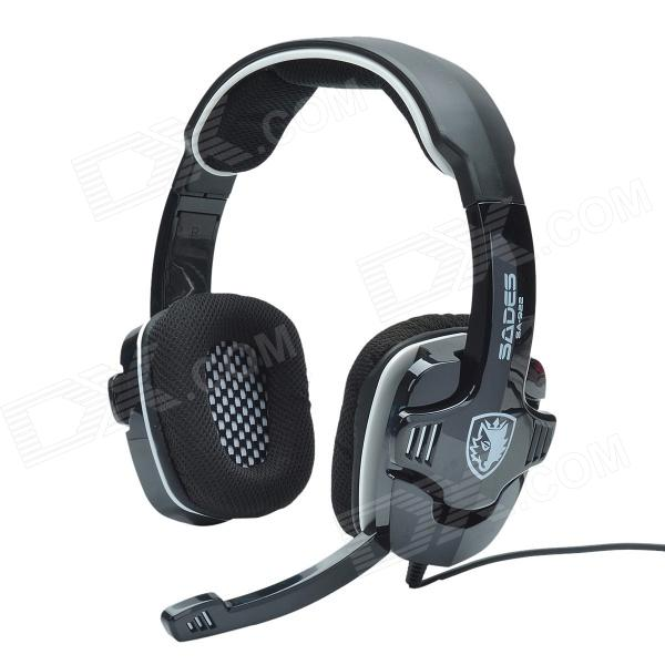 SADES SA-922 Multi-functional Gaming Headphone / Microphone for PC / PS3 / XBox - Black + White