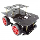 Robotbase RB-13K010 AS-2WD Aluminum Alloy Mobile Robot Lett Bil -Yellow + Svart + Multicolor
