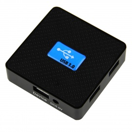 High Quality Super Speed 5Gbps USB 3.0 4-Port Hub - Blue + Black