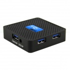 Högkvalitets Super Speed ​​5Gbps USB 3.0 4-port Hub - Blå + Svart