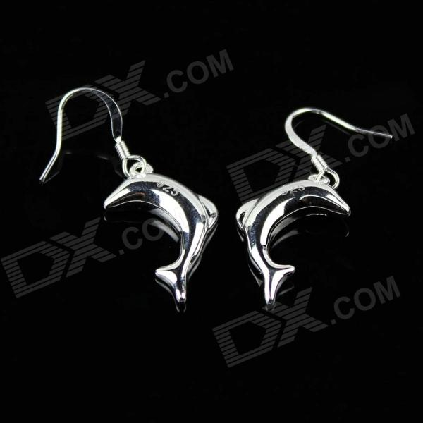 925 Silver Dolphin Earrings (Pair)
