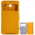 NILLKIN Protective PU Leather + PC Case Cover for Lenovo S930 - Yellow