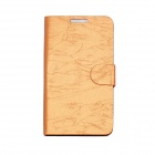 Flower Show Protective PU Leather + PC Case w/ Holder / Card Slot for Samsung N7000 / i9220 - Orange