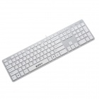ZIPPY WK7680 Wired USB Slim Optical Keyboard - White (120cm-Cable)