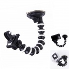 "360 Degree Rotation 1/4"" Car Suction Cup Monopod Octopus Holder for Camera / GPS / GoPro / SJ4000"