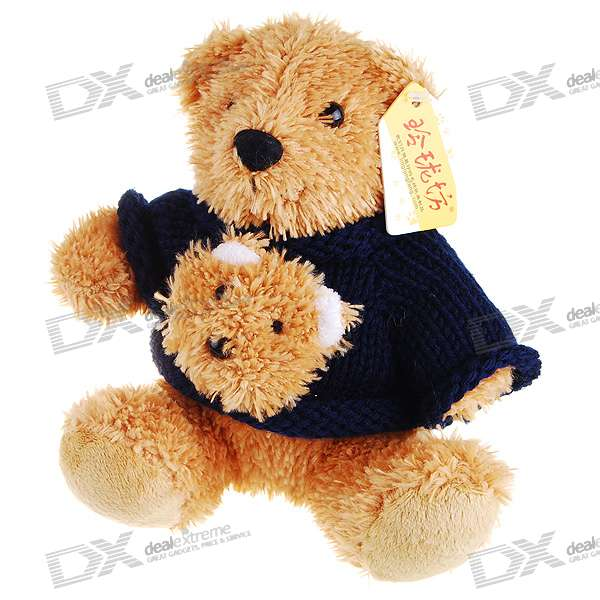 Cute Black Sweater Teddy Bear Doll Toy