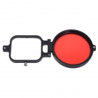 Fat Cat 58mm Underwater Color-Correction Filter Dive Filter w/ Flip Converter for GoPro Hero 3 - Red