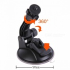 H028 360 Degree Rotation Super Powerful Car Suction Cup Mount for Camera / GPS / DV - Black