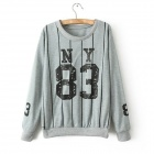 Leisure Printed Fleece - Gray (Free Size)