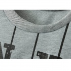 Fritid tryckt Fleece - Gray (Free Size)
