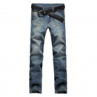 Men's Slim Straight Jeans Pants - Nostalgia Blue (Size-36)