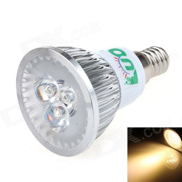 LUO V08 E14 3W 300lm 3000K 3-LED Warm White Light Spotlight (95~245V)