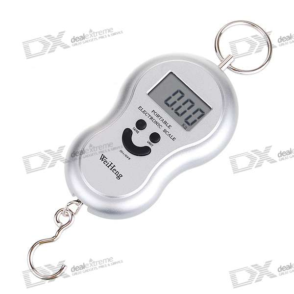Digital Weighting Hook Scale with Neck Strap (40kg Max/20g Resolution)