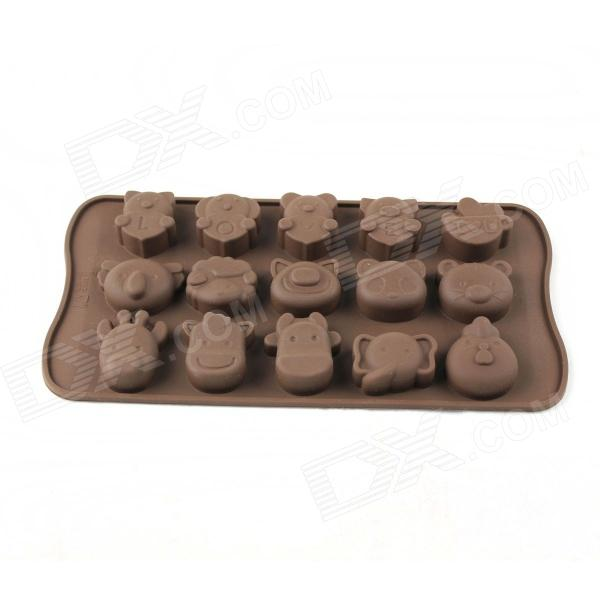 Animal Style Silicone 15-Lattice Ice Mold - Coffee kitchen plastic pineapple style bread mold coffee
