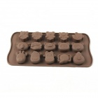 Animal Style Silicone 15-Lattice Ice Mold - Coffee