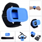 Elastic Wrist Belt Silicone Protective Case for GoPro Hero3+/3 Wi-Fi Remote Control - Blue