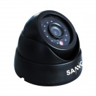 SANNCE P2P HDMI 8CH DVR + 600TVL Dome Day / Night Vision 4-Cameras Security System - Black