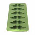 Moustache Style Silicone 6-Lattice Ice Mold - Army Green