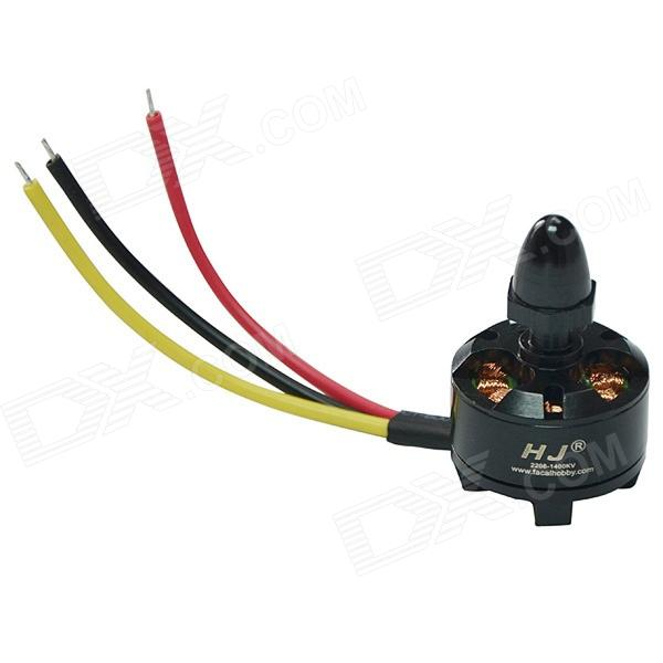 HJ2208 1400KV High Speed Brushless Motor for RC Helicopter / RC Aircraft (Anticlockwise Rotation)