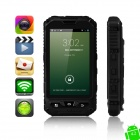 "MOXIV Ultra-Rugged Waterproof Android 4.2 WCDMA 3G Smart Phone w/ 4.0"", 4GB ROM, GPS, Wi-Fi - Black"