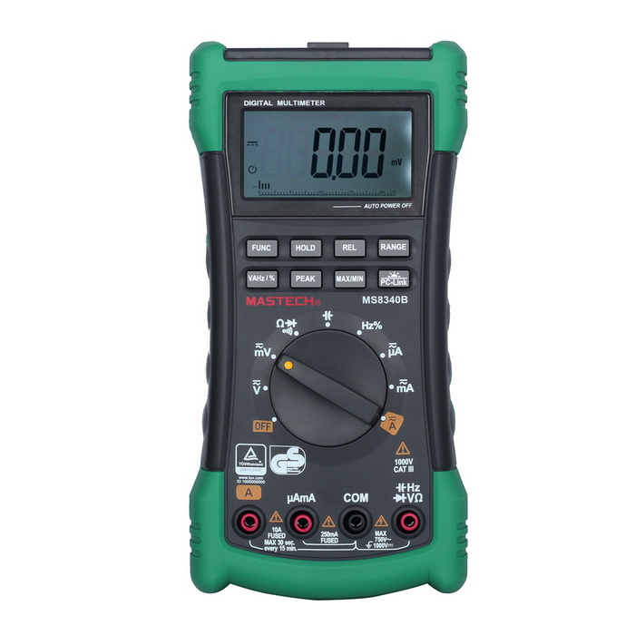 MASTECH MS8240D 22000 Counts USB Digital Multimeter - Green + Black mastech ms8212a multi functional pen style digital multimeter black green