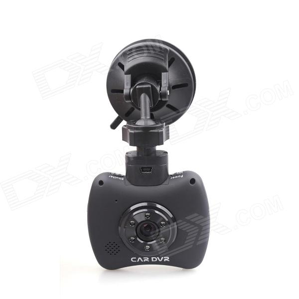 "FILL HD-CAR01 Mini 2.4"" TFT 1.0 MP 1/4"" CMOS HD Car Recorder DVR w/ 6-IR LED - Black"