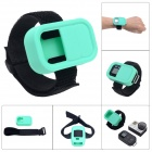 Wrist Belt Silicone Protective Case for GoPro Hero3+/3 Wi-Fi Remote Control - Blue Green