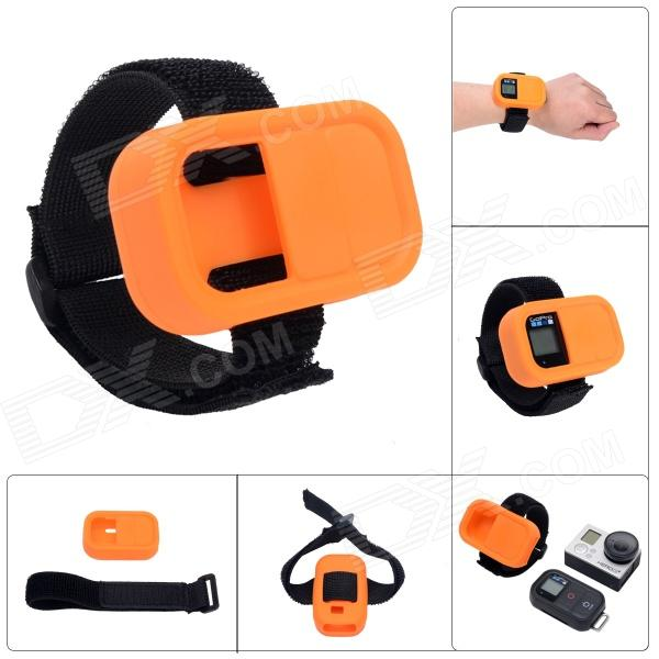 Elastic Wrist Belt Silicone Protective Case for GoPro Hero3+/3 Wi-Fi Remote Control - Orange