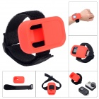 SMJ Elastic Wrist Belt Silicone Protective Case for GoPro Hero3+/3 Wi-Fi Remote Control - Red