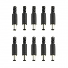 Connector Male DC Power Jack Plug - Black (10 PCS / 2.1 x 5.5 x 9mm)