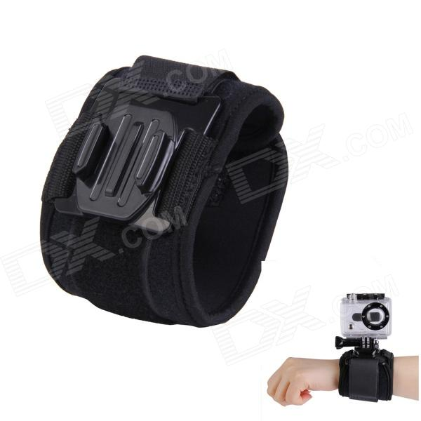 H030 Sports Camera Arm Bands Wrist Strap for Gopro Hero 4/ 3+ / 3 / 2 / 1 - Black neopine arm bands wrist strap mount w hinge screw for gopro hero 4 3 3 2 1 black red