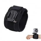 H030 Sports Camera Arm Bands Wrist Strap for Gopro Hero 4/ 3+ / 3 / 2 / 1 - Black
