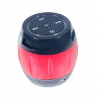 Portable 2-Channel Bluetooth v3.0 Speaker w/ Microphone / TF / LED - Red + Black