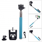 Fat Cat Portable 3-in-1 Monopod for Camera / GoPro Hero / SJ4000 / IPHONE / Samsung - Blue + Silver