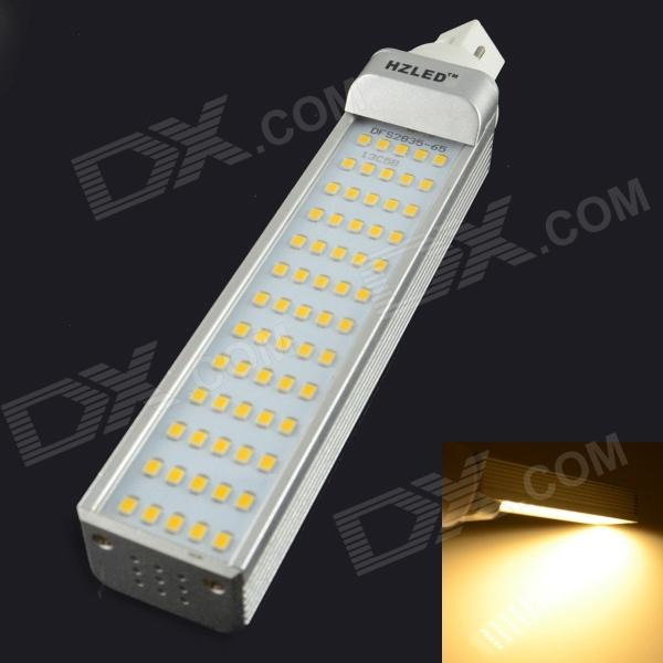 HZLED G24 13W 1600LM 3000K 65-SMD 2835 LED Warm White Light Bulb (AC 85~265V)