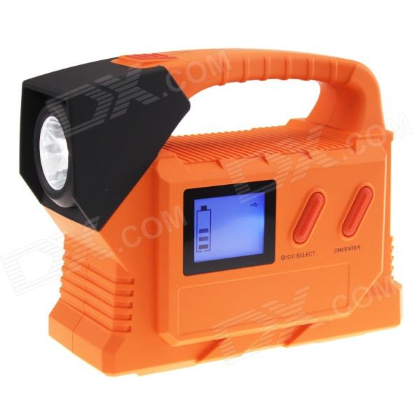 10000mAh bilen hoppe Starter transportabel makt kilde med 50-LED / advarsel Light - Black + oransje